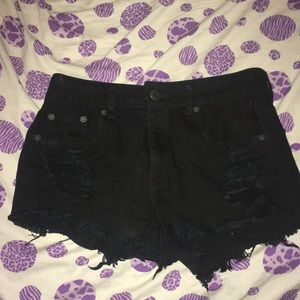 Size 4 Black American Eagle Ripped shorts